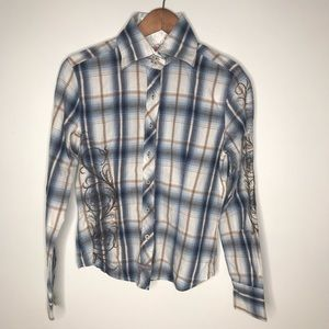 English Laundry button down shirt embroidered